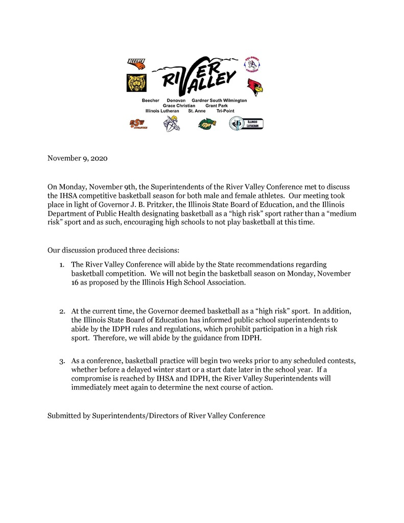 RVC Winter Sports Letter