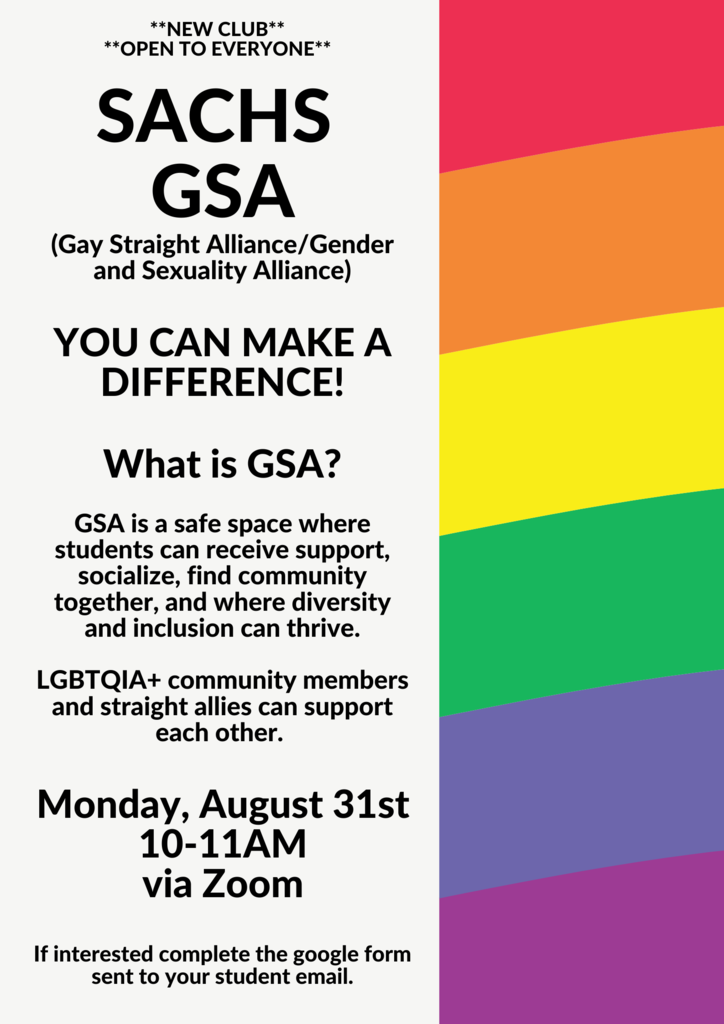 Gender and Sexuality Alliance is HERE!